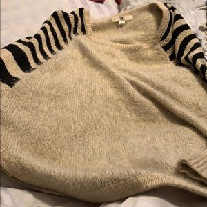 Sweaters - Khaki and black stripped sweater. Never worn.